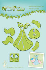 LEA'BILITIES COMBI MULTI DIE CUTTING EMBOSSING STENCIL BABY 3D CARRIER 45.0522