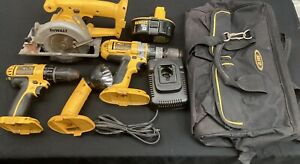 DeWalt 18V Cordless 4-Piece Tool Set w/ Charger, Battery, and AWP Heavy Duty Bag