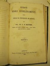 BALESTRERI F. M., Lezioni sugli avvelenamenti