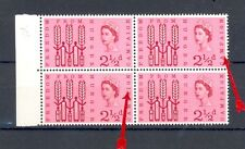 GB 1963 Freedom From Hunger, Ord, MNH SG 634/634a, 1 x line through MPA, 1 x MCF
