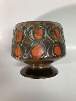 "MCM Strehla Keramik Fat Lava Pedastal Bowl Planter 60's, 6""h GDR Excellent Cond."