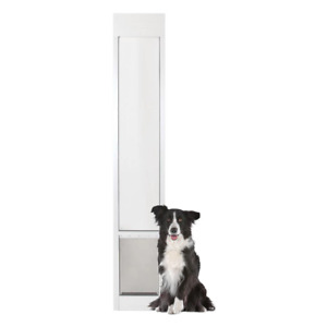 8 1/4 in. x 12 1/4 in. Medium White Freedom Patio Panel (76 in. to 81 in.) Pet D