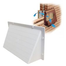 """White Hooded Cowl 9"""" x 6"""" Vent Cover for Air Bricks Grilles Extractor Vents"""