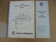 ORIGINAL JONES & SHIPMAN 1300X INSTALLATION & OPERATION MANUAL