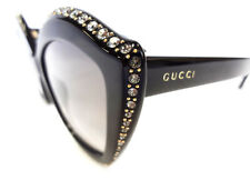GUCCI Woman's Sunglasses GG0118S 001 Black 53-15-140 MADE IN ITALY - New
