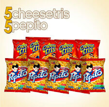 5 Bolsas Pepito 25g c.u / 5 Bolsas Cheese Tris 54g c.u FREE SHIPPING ALL USA