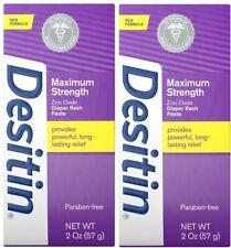 2 pk Desitin Maximum Strength Diaper Rash Paste 2 oz (4 oz total)