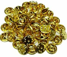 50pcs Brass Metal Lapel Hat Military Pin Back Butterfly Clasp Clutch Holder