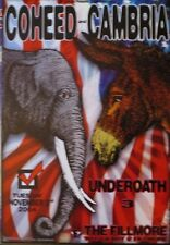 COHEED & CAMBRIA FILLMORE POSTER Underoath ORIGINAL Bill Graham F639 Chris Shaw