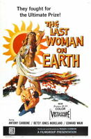G4317 Last Woman On Earth Antony Carbone Movie VHS Vintage Laminated Poster FR