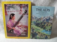 National Geographic April 1985 MOGULS WITH MAP OF THE ALPS