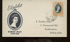 Northern Rhodesia Qe Coronation First Day Cover 1953 Chingola Cancel