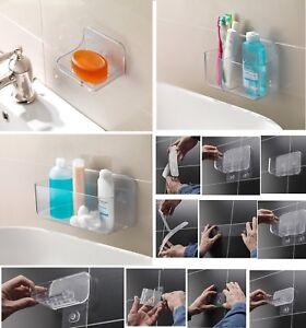Addis Invisifix Bathroom Accessories Shower Storage Caddy Soap Dish No Drill Req