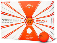 Callaway Supersoft Golf Balls - 1 Dozen Orange -  Mens