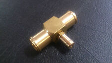 "HEAVY DUTY BRASS 3/4"" X 3/8"" X 3/4"" T - PIECE ADAPTOR FOR HEATER HOSE FORD BA BF"