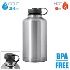 64oz 2L Vacuum Sealed Wide Mouth Stainless Steel Water Bottle Growler BPA FREE
