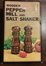 """Wood Pepper Mill and Salt Shaker Vintage Kmart 5"""""""