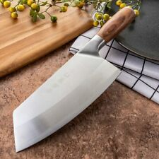 Japanese Cleaver Kitchen Knife Cutting Meat Chopping Chef Knife Stainless Steel