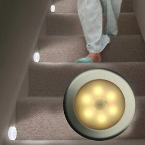LED Motion Sensor Light Indoor/Outdoor Wall Stair Shed Lamp Stick on UK SHIP