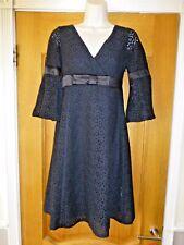 Karen Millen, Women's, black, mini dress. UK 8. 3/4 sleeves.