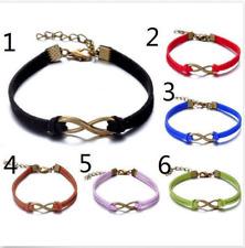 6pcs multi Infinity leather Bracelet Faux Suede Friendship Eternal8