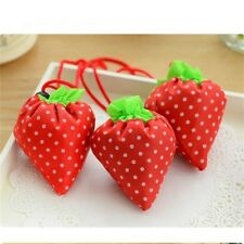 Fold Strawberry Unique Shopping bag Decorate Hand-held Small Nylon Lovely Tool