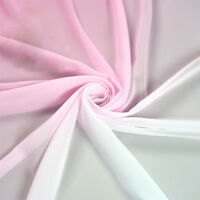 2M Pink White Shade Gradual 3D Chiffon Fabric Dancing Wedding Dress DIY