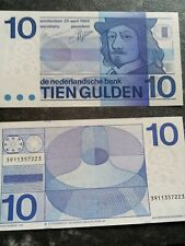 Holland 10 Gulden Schein Banknote Original.