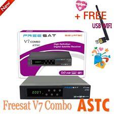 Freesat FTA DVB-S2 ATSC V7 1080P HD Satellite TV Receiver DDR3 Decoder+USB WIFI