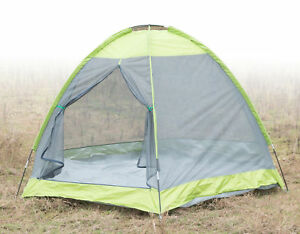 New PLAYBERG Camping Folding Tent with Screen Exterior, QI003445