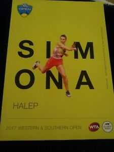 WTA WESTERN & SOUTHERN 5x7 SIMONA HALEP TENNIS CARD 2017 EDITION GIVEAWAY