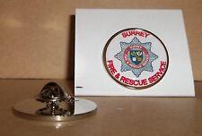Surrey FIRE e Rescue Service bavero pin badge