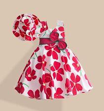 NEW SHYBOBBI size 5 BEAUTIFUL Plum Floral Lined ZIP Back DRESS & HAT Set NWT 5