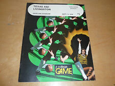 1978 LIVINGSTON (TX)  AT TEXAS A&I COLLEGE FOOTBALL PROGRAM  EX-MINT