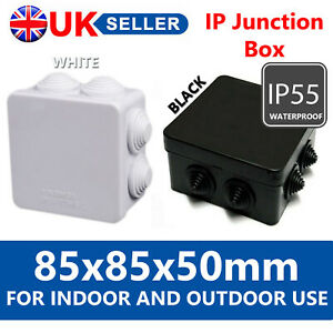 IP55 WATERPROOF JUNCTION BOX ENCLOSURE TERMINAL ELECTRIC CABLE CONNECTOR OUTDOOR
