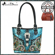 Montana West Black & Turquoise Concealed Carry Shoulder Purse