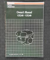 GENUINE HONDA GXV120 & GXV160 ENGINE OPERATORS OWNER'S MANUAL VERY NICE