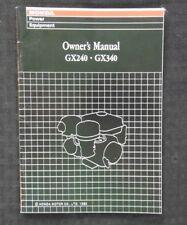 GENUINE HONDA GXV120 & GXV160 ENGINE OPERATORS OWNER'S MANUAL VERY NICE