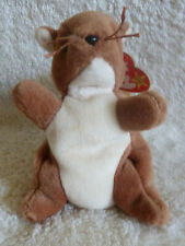 TY Original Beanie Baby Nuts Squirrel RARE 1996 Collectors With Tag Errors