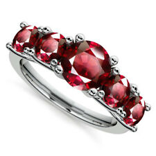 2.00 Ct Real Diamond Natural Ruby Engagement Gemstone Ring 14K Solid White Gold