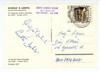 """1978 Loretta DORBOLO' BONOMI """"La sera delle pannocchie"""" *Cartolina AUTOGRAFA FG"""