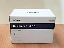 Sigma AF 18-35mm F1.8 DC HSM Lens For Nikon