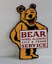 New ListingDiecut Bear Wheel Aligning Service Gas Station Sign oil modern retro
