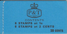 Fiji 20c booklet - flowers stamps
