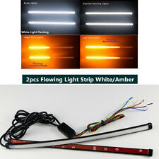 2x Switchback Flowing LED Knight Rider Light Tube Flash Light 30cm Dual Color