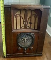 1936 Zenith Antique Vintage Tombstone Tube Radio