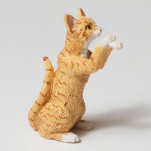 Dollhouse Falcon Miniature Orange Begging Cat 1:12 Scale Pet Animal Accessories