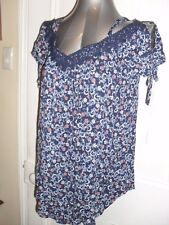 BNWT Target Collection Maternity wear size 8 navy floral maternity blouse in EC