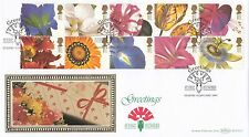 (94598) GB Benham FDC BLCS123 Greetings Orchids Flying Flowers Staines Jan 1997