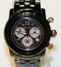 Glam Rock GK1116 Mens Miami Chronograph Watch Swiss Quartz Black with Rose Gold